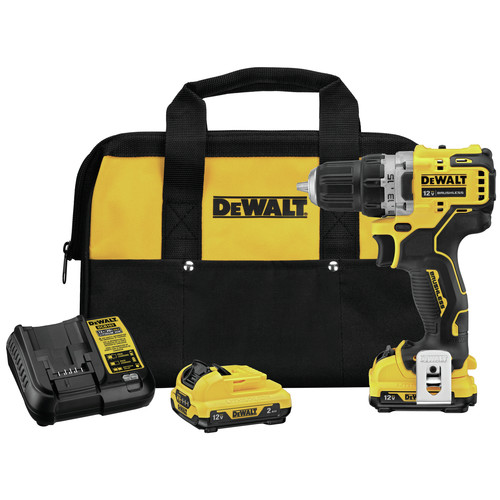 Dewalt DCD701F2 XTREME 12V MAX Lithium-Ion Brushless 3/8 in. Cordless Drill Driver Kit (2 Ah) image number 0