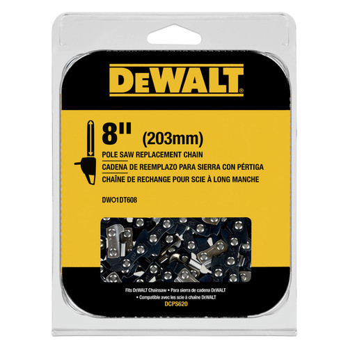 Dewalt DWO1DT608 8 in. Pole Saw Replacement Chain image number 0