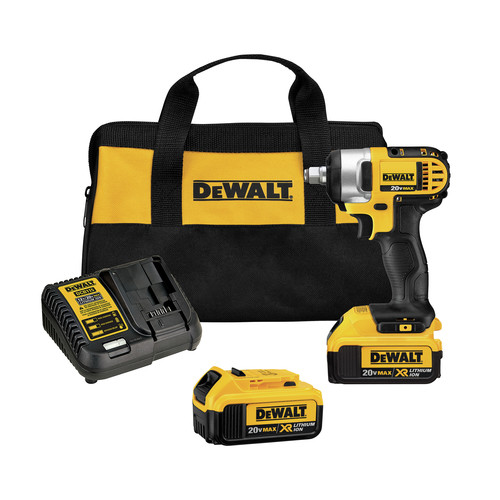 Dewalt DCF880HM2 20V MAX XR Cordless Lithium-Ion 1/2 in. Impact Wrench Kit with Hog Ring Anvil image number 0