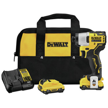 Dewalt DCF801F2 XTREME 12V MAX 1/4 in. Cordless Lithium-Ion Brushless Impact Driver Kit (2 Ah) image number 0