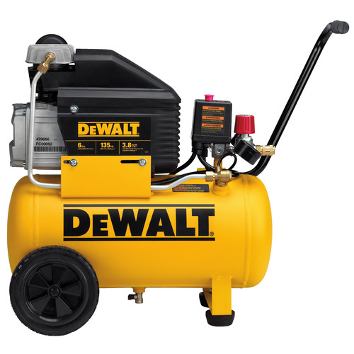 Dewalt D55166 6 Gallon Wheeled Horizontal Air Compressor