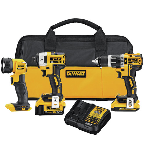 Factory Reconditioned Dewalt DCK387D1M1R 20V MAX XR Compact 3-Tool Combo Kit image number 0
