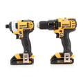 Factory Reconditioned Dewalt DCK280C2R 20V MAX 1.5 Ah Cordless Lithium-Ion 1/2 in. Compact Drill Driver and Impact Driver Combo Kit image number 1