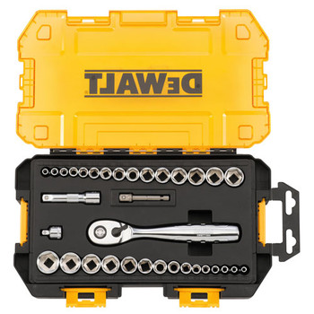 Dewalt DWMT73804 1/4 in. & 3/8 in. Drive Socket Set (34-piece)