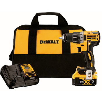Dewalt DCD791P1 20V MAX XR Brushless Lithium-Ion 1/2 in. Cordless Drill Driver Kit (5 Ah)