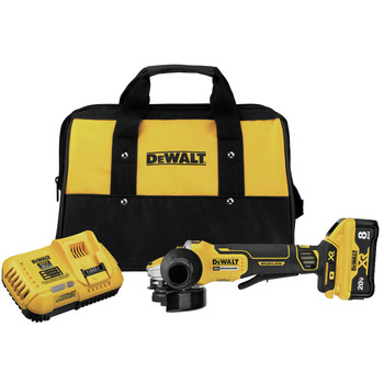 Dewalt DCG415W1 20V MAX XR POWER DETECT Brushless Lithium-Ion 4-1/2 in. - 5 in. Small Angle Grinder Kit (8 Ah)
