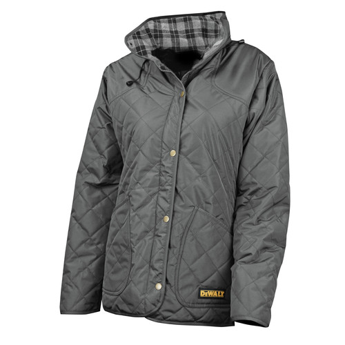 Dewalt DCHJ084CD1-L 20V MAX Li-Ion Charcoal Women's Flannel Lined Diamond Quilted Heated Jacket Kit image number 1