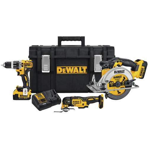 Factory Reconditioned Dewalt DCKTS381M2R 20V MAX 4Ah 3-Tool Kit with Tough SystemKit Box image number 0