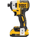 Factory Reconditioned Dewalt DCF887D2R 20V MAX XR Cordless Lithium-Ion 1/4 in. 3-Speed Impact Driver Kit with (2) 2.0 Ah Battery Packs image number 2