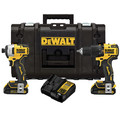 Dewalt DCKTS279C2 ATOMIC 20V MAX Brushless 1/2 in. Hammer Drill Driver / 1/4 in. Impact Driver Combo Kit with TOUGHSYSTEM image number 0