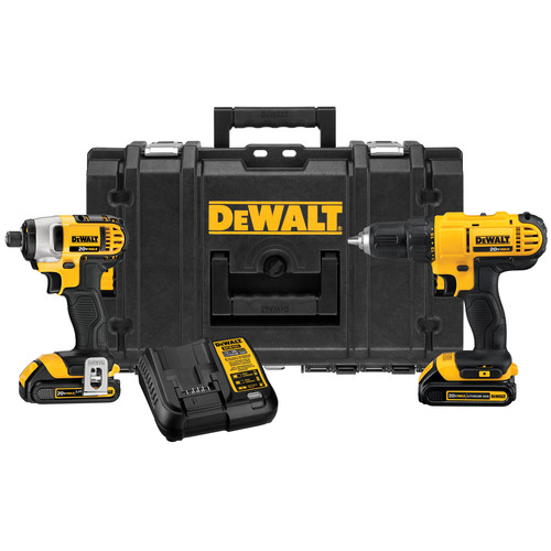 Factory Reconditioned Dewalt DCKTS240C2R 20V MAX Cordless Lithium-Ion Drill Driver and Impact Driver Combo Kit with ToughSystem image number 0