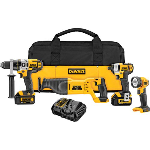 Factory Reconditioned Dewalt DCK490L2R 20V MAX Lithium-Ion 4-Tool Combo Kit image number 0