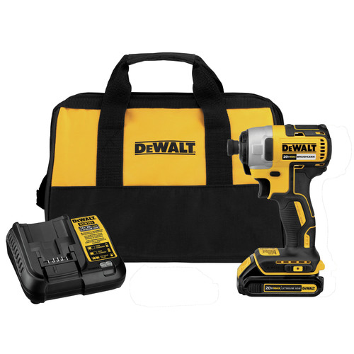 Dewalt DCF787C1 20V MAX Compact Brushless 1-4 in. Impact Driver ...