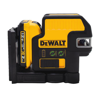 Dewalt DW0822LG 12V MAX Cordless Lithium-Ion 2-Spot Green Cross Line Laser