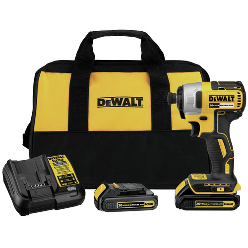 Factory Reconditioned Dewalt DCF787C2R 20V MAX Brushless Lithium-Ion 1/4 in. Cordless Impact Driver Kit (1.3 Ah) image number 0