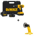 Dewalt DC759KA & DW908 18V Cordless 1/2 in. Compact Drill Driver Kit with Pivoting Head Flashlight