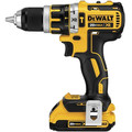 Factory Reconditioned Dewalt DCD795D2R 20V MAX XR Lithium-Ion Brushless Compact 1/2 in. Cordless Hammer Drill Kit (2 Ah) image number 2