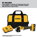 Dewalt DCG415W1 20V MAX XR Brushless Lithium-Ion 4-1/2 in. - 5 in. Small Angle Grinder with POWER DETECT Tool Technology Kit (8 Ah) image number 1