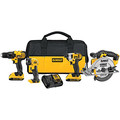 Factory Reconditioned Dewalt DCK421D2R 20V MAX Cordless Lithium-Ion 4-Tool Combo Kit image number 0