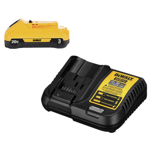 Dewalt DCB230C 20V MAX 3 Ah Lithium-Ion Compact Battery and Charger Starter Kit image number 0