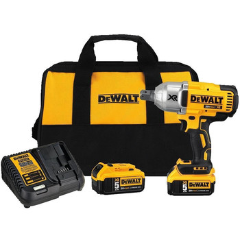 Dewalt DCF897P2 20V MAX XR 5.0 Ah Cordless Lithium-Ion Brushless 3/4 in. Hog Ring Impact Wrench Kit image number 0