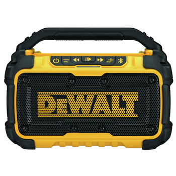 Factory Reconditioned Dewalt DCR010R 12V/20V MAX Lithium-Ion Jobsite Corded/Cordless Bluetooth Speaker (Tool Only)