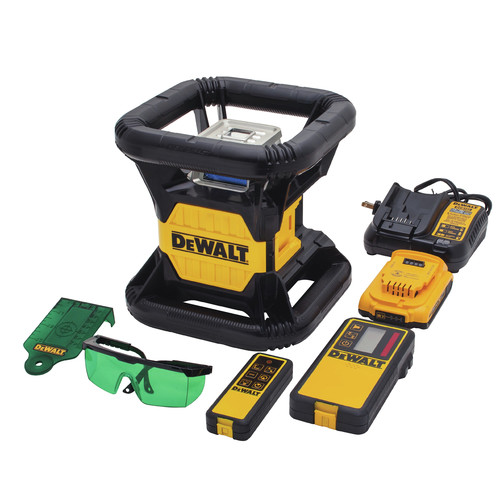 Dewalt DW079LG 20V MAX Cordless Lithium-Ion Tough Green Rotary Laser Kit image number 4
