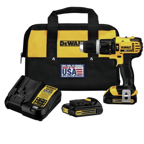 Dewalt DCD785C2 20V MAX Cordless Lithium-Ion Compact Hammer Drill ...