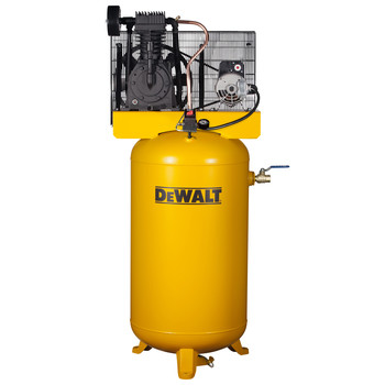 Dewalt DXCMV5048055 5 HP 80 Gallon TOPS Two Stage Oil-Lube Industrial Air Compressor with System Panel