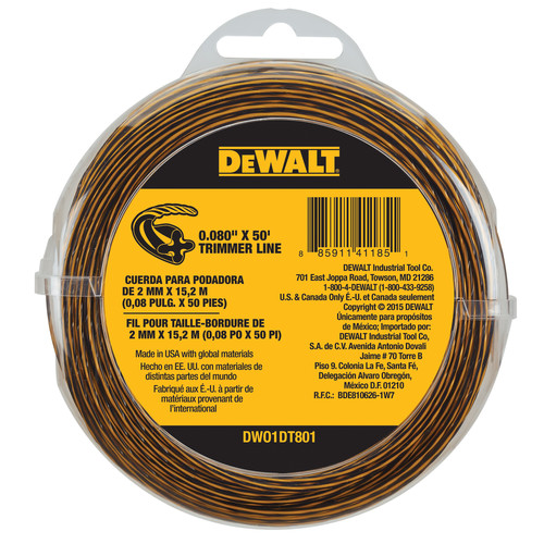 Dewalt DWO1DT801 0.080 in. x 50 ft. String Trimmer Line image number 0