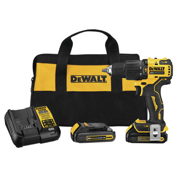 Dewalt DCD709C2 ATOMIC 20V MAX Lithium-Ion Brushless Compact 1/2 in. Cordless Hammer Drill Kit image number 0