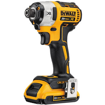 Dewalt DCF887D2 20V MAX XR 2.0 Ah Cordless Lithium-Ion 1/4 in. Brushless Impact Driver Kit image number 1