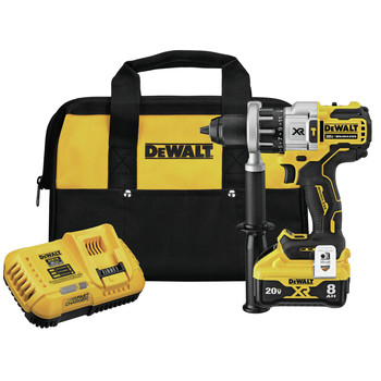Dewalt DCD998W1 20V MAX XR POWER DETECT Brushless Lithium-Ion 1/2 in. Cordless Hammer Drill Driver Kit (8 Ah)