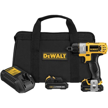 Dewalt DCF610S2 12V MAX Cordless Lithium-Ion 1/4 in. Hex Chuck Screwdriver Kit image number 1