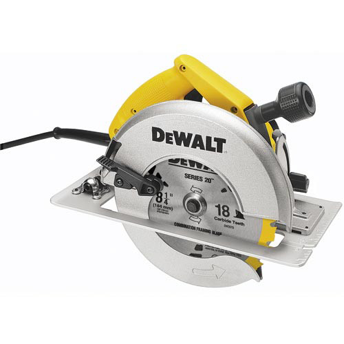 Factory Reconditioned Dewalt DW384R 8-1/4 in. Circular Saw with Rear Pivot Depth & Electric Brake
