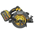 Dewalt DCS578X2 FLEXVOLT 60V MAX Brushless Lithium-Ion 7-1/4 in. Cordless Circular Saw Kit with Brake and (2) 9 Ah Batteries image number 2