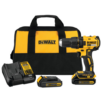 Dewalt DCD777C2 20V MAX Lithium-Ion Brushless Compact 1/2 in. Cordless Drill Driver Kit (1.5 Ah) image number 0