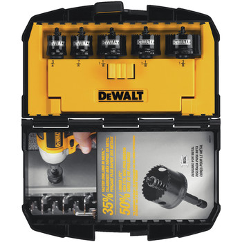 Dewalt D1800IR5 5-Piece Impact Ready Hole Saw Set image number 1