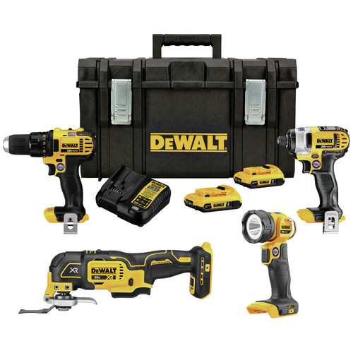 Factory Reconditioned Dewalt DCKTS444D2R 20V MAX Lithium-Ion 4-Tool Combo Kit with TOUGHSYSTEM (2 Ah) image number 0