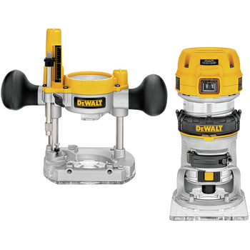 Dewalt DWP611PK Premium Compact Router Fixed/Plunge Combo Kit image number 0