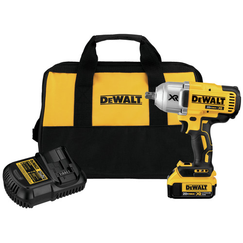 Factory Reconditioned Dewalt DCF899M1R 20V MAX XR Cordless Lithium-Ion High Torque 1/2 in. Impact Wrench with Detent Pin Anvil