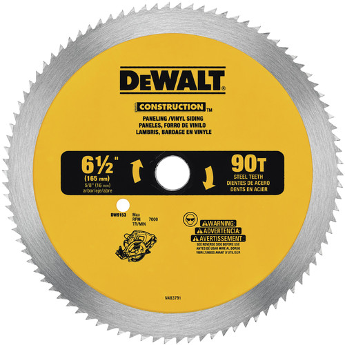 Dewalt DW9153 6-1/2 in. 90 Tooth Circular Saw Blade image number 0