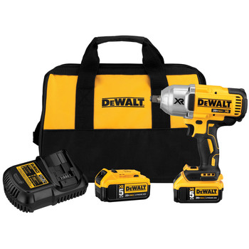 Dewalt DCF899HP2 20V MAX XR Cordless Lithium-Ion 1/2 in. Brushless Friction Ring Impact Wrench with 2 Batteries image number 0