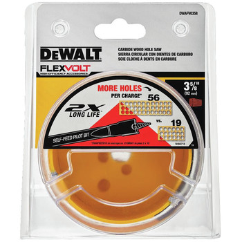 Dewalt DWAFV0358 FlexVolt 3-5/8 in. Carbide Wood Hole Saw image number 1