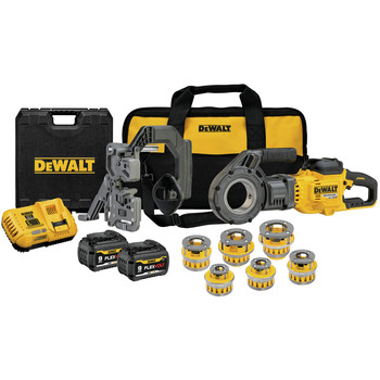 Dewalt DCE700X2K FLEXVOLT 60V MAX Lithium-Ion Cordless Pipe Threader Kit with (6) Die Heads (9 Ah)