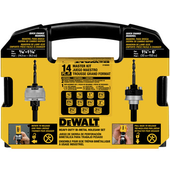 Dewalt D180005 13-Piece Master Hole Saw Kit image number 2