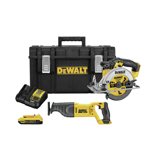 Factory Reconditioned Dewalt DCKTS253D1R 20V MAX Lithium-Ion Cordless 2-Tool Combo Kit with TOUGHSYSTEM image number 0