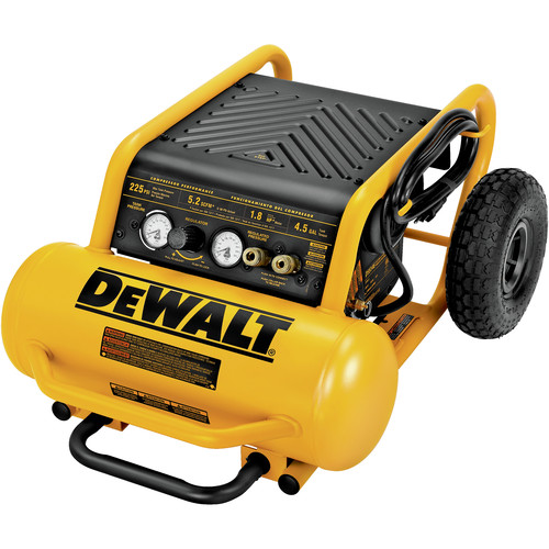 Dewalt D55146 1 6 Hp 4 5 Gallon Oil Free Wheeled Portable