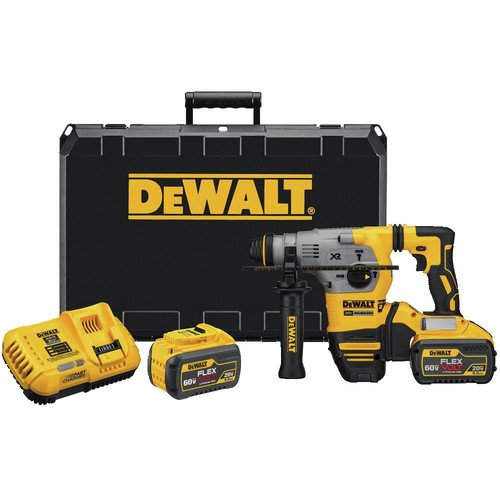 Dewalt DCH293X2 20V MAX XR Brushless 1-1/8 in. L-Shape SDS Plus Rotary Hammer Kit with 9.0ah image number 0