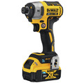 Dewalt DCF888P2BT 20V MAX XR 5.0 Ah Cordless Lithium-Ion Brushless Tool Connect 1/4 in. Impact Driver Kit image number 2